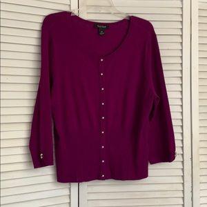 WHBM soft purple sweater. Purple. XL